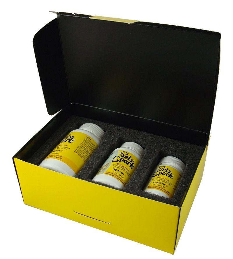 Custom Folding Cartons with Foam Inserts Pets Spark
