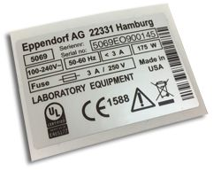 Custom printed label