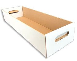 Die cut box tray