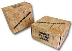 Die cut mailer cookie in the crate